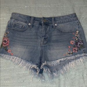embroidered flower shorts!